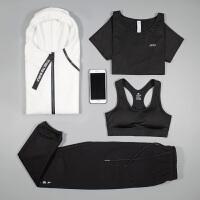 秋冬新款瑜伽服三件套女户外运动晨跑步套装健身房锻炼速干衣宽松