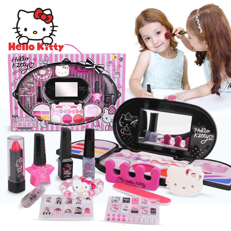 【领券立减50元】HelloKitty凯蒂猫 儿童化妆品彩妆套装女孩玩具化妆盒过家家礼物活动专属【领券立减50元】 儿童早教益智玩具大促