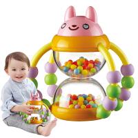 宝宝早教新生婴儿玩具0-1岁幼儿益智手摇铃手抓花篮沙漏