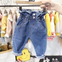 1-4岁女宝宝牛仔裤女童春秋装韩版长裤3女婴儿束腰小脚裤子潮