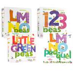 顺丰发货 英文原版进口 数豆豆系列3册 1-2-3 Peas/LMNO Peas/Little Green Peas