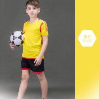 儿童足球服中小学学生短袖短裤套装青少年比赛训练服小孩球衣定制