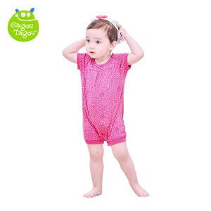 【每满100减50】女童纯棉条纹背心休闲连体衣婴幼儿纯棉哈衣爬服新生儿