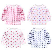 新款男女宝宝长袖T恤春秋男童女童打底衫婴儿纯棉上衣