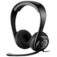 森海塞尔(Sennheiser)GSP 107 舒适轻便头戴耳机黑色 带线控 耳麦 游戏耳麦