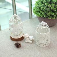 物有物语 烛台 欧式镂空花朵图案鸟笼烛台摆件 居家装饰婚庆道具摆设