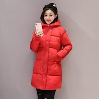韩观 新款女装棉衣女中长款加厚冬衣韩版面包服潮棉袄学生外套 2XL 适合130斤145斤