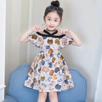 女童连衣裙夏装2018新款韩版中大童儿童露肩洋气夏季时髦裙子潮衣