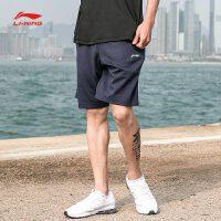 李宁短卫裤男士2018新款训练系列男装短装夏季针织运动裤AKSN097