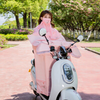 电动车夏季防晒挡风被春季电瓶摩托三轮车遮阳罩薄款连体防水车衣
