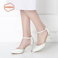 达芙妮旗下SHOEBOX/鞋柜新款酒杯跟休闲单鞋女 时尚尖头女鞋