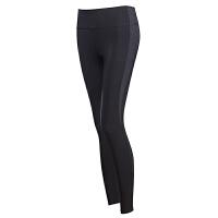 拼色健身裤弹力紧身瑜伽裤女跑步长裤薄外穿运动裤速干裤女春
