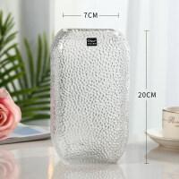 欧式玻璃花瓶大号透明水培简约创意摆件客厅鲜花玫瑰插花瓶干花器 中等