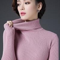 秋冬新款百搭韩版长袖修身加厚白色高领女毛衣打底羊毛衫网红