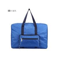 折叠旅游旅行包袋女大容量xzxd手提包购物袋装衣服的袋子行李包拉杆男 天蓝色 大