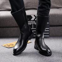 冬季英伦马丁靴高帮长筒军靴男士皮靴韩版中帮防水加绒男靴子潮