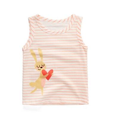 女童背心夏季薄款 女孩卡通爱心兔 儿童无袖上衣 宝宝夏装