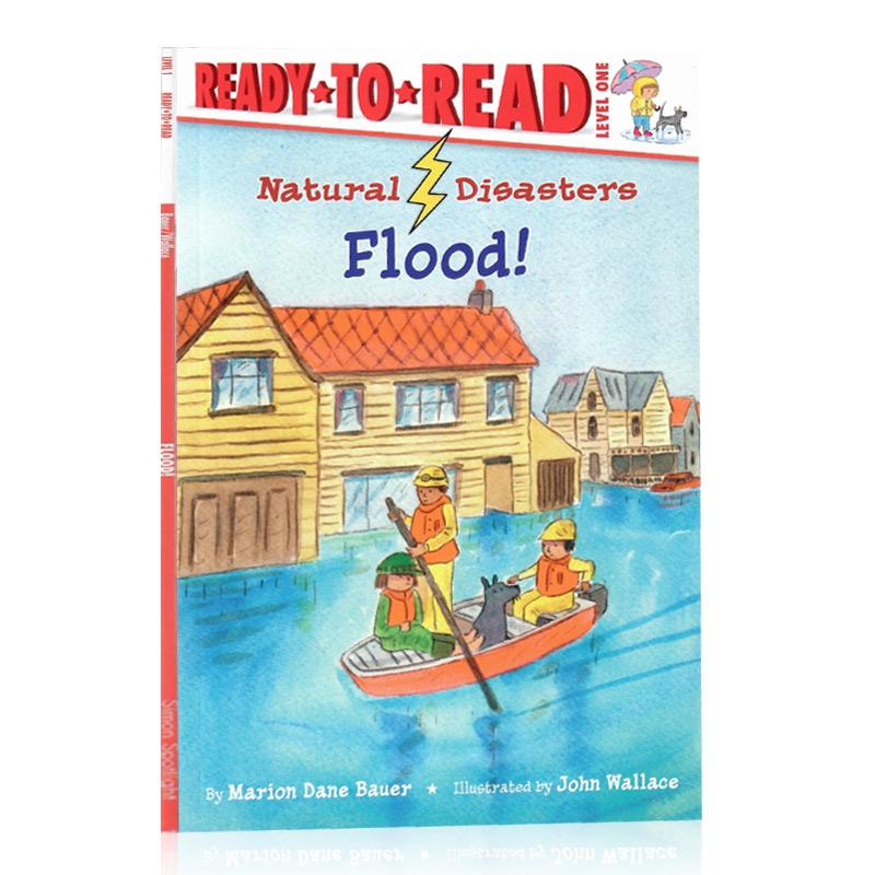 Ready to Read 英文原版绘本 自然灾害洪水 儿童分级阅读系列 Natural Disasters: Flood! Marion Dane Bauer 启蒙图画故事书 启蒙图画故事书