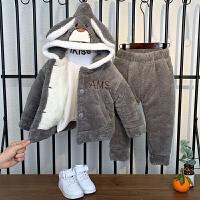 儿童睡衣秋冬款珊瑚绒冬季棉睡衣