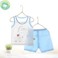 儿童睡衣夏季男女宝宝薄款打底背心内衣套装