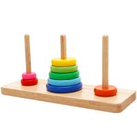 彩虹套圈套堆塔积木益智叠叠乐1-2-3周岁半以下宝宝儿童婴儿礼物