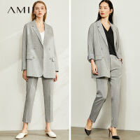 【到手价:252元】Amii极简时尚帅气小西装女2020春新款ins潮气质宽松休闲西装外套