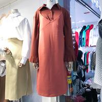 韩国ulzzang2018春新款纯色吊带裙时尚打底外搭中长裙潮连衣裙女