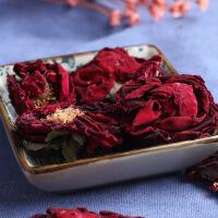 【包邮】汉馨堂 玫瑰花茶 花草茶法国墨红玫瑰花冠