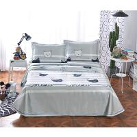 夏季软冰丝凉席1.8m可水洗折叠席子宿舍凉席1.5米床裙床单三件套 乳白色 6008灰
