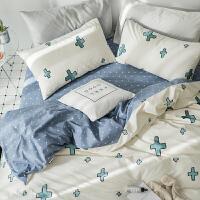 纯棉四件套全棉床品套件1.8m床上用品被套床单三件套1.5米