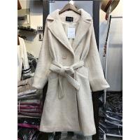 A3中长款仿貂绒毛呢外套女装冬季新款韩版加厚腰带大衣潮1.35