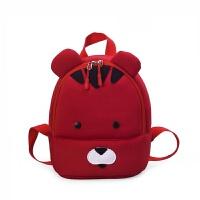 七夕礼物2018新款儿童包包韩版防走失潜水料儿童双肩包幼儿园背包书包 红色