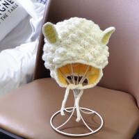 毛线帽婴儿冬天幼儿可爱儿童时尚萌男童秋冬季