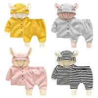 女童婴儿开衫外套裤子套装0岁6个月新生儿秋装婴儿宝宝春秋季套装