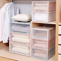 储物收纳盒整理箱衣物透明收纳柜塑料自由组合衣柜抽屉式收纳柜子
