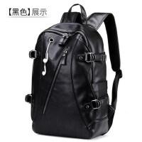 韩版潮流双肩包男士皮包大容量休闲旅行包时尚背包学生书包 支持礼品卡支付