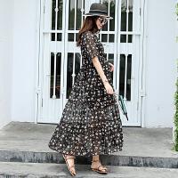 孕妇夏装连衣裙时尚款2018新款中长款3-9月长裙夏季雪纺裙子孕妈