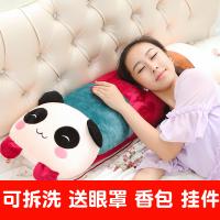 【支持礼品卡】可拆洗卡通熊猫抱枕兔子毛绒玩具公仔娃娃单双人枕头床头大靠背垫 k4j