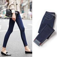 【1折价49.9元】唐狮弹力牛仔裤女长裤新款小脚裤显瘦高腰铅笔