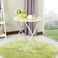 【当当自营】阿栗坞 圆桌 实用折叠圆桌 小餐桌 桌子 折叠桌 圆桌 3D木纹色 2049