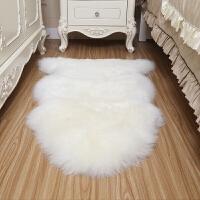 整张羊皮地毯卧室床边毯客厅羊毛地垫飘窗垫沙发坐垫 皇 本色白