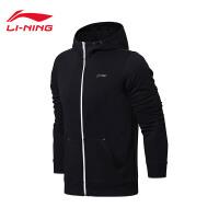 李宁卫衣男士新款训练系列开衫长袖外套连帽上衣夏季运动服AWDN185