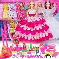 换装洋娃娃套装大礼盒女孩公主儿童玩具别墅城堡长尾巴比翼鸟衣服