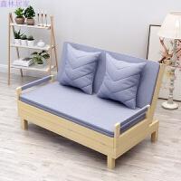 实木沙发床可折叠两用床多功能客厅书房阳台小户型双人 1.8米-2米