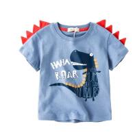 童装男童T恤宝宝夏装恐龙衣服3岁儿童短袖2婴儿半袖4女童体恤纯棉