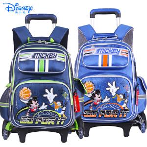Disney/迪士尼 米奇儿童小学生卡通双肩书包三轮可爬楼拉杆书包MB0519