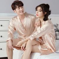 情侣睡衣夏天睡袍韩版性感套装夏季冰丝绸可爱睡裙男女夫妻家居服