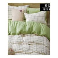 欧式学生宿舍三四件套棉简约床品4套件床单床笠床上用品