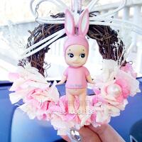 汽车挂件丘比娃娃后视镜韩国车载车内吊饰可爱创意永生花车挂