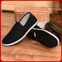 新款老北京男款传统布鞋平底休闲透气千层底男鞋XWB 黑色
